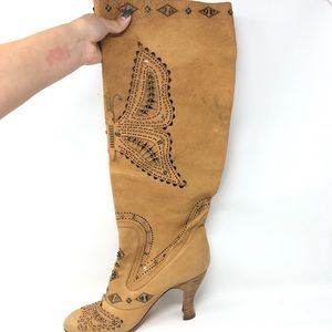 Anna Sui Shoes - Anna Sui heeled boots (woman's U.S 11)